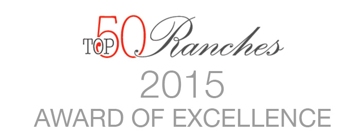 2015 Award of Excellence from Top50 Ranches