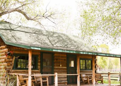 Cabin Exterior - Lodging Rooms Lazy L&B Guest Ranch Wyoming
