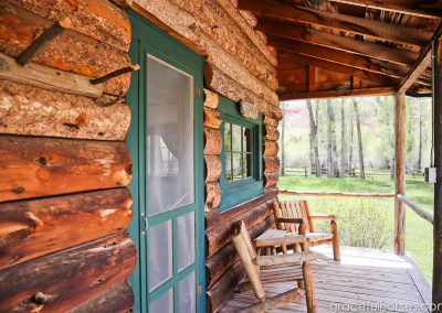 Cabin Porch - Lazy L&B Guest Ranch Wyoming