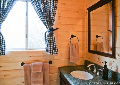 Cabin Bathroom - Lodging Rooms Lazy L&B Guest Ranch Wyoming