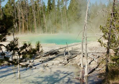Cistern Spring at Norris Geyser Basin Yellowstone National Park - Lazy L&B Ranch Wyoming