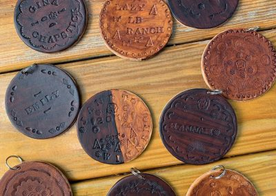 Leather Rounds Leatherwork - Lazy L&B Dude Ranch Wyoming