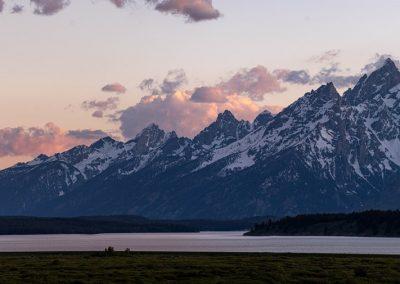 Teton Mountain Range with Lake in Grand Teton National Park - Lazy L&B Dude Ranch Wyoming
